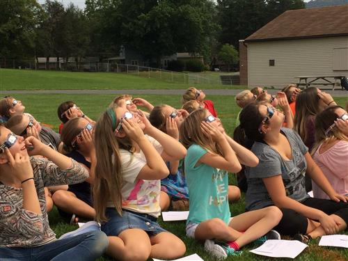 Thank you to Mrs. Mangle and our entire Middle School for the educational viewing of the solar eclipse!