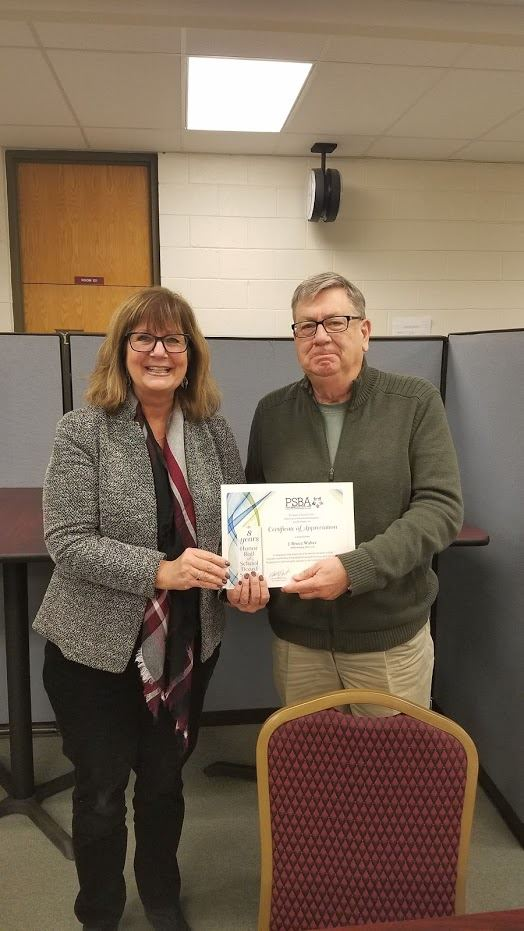 Congratulations To Bruce Walter For 8 Years Of Dedicated Service To The Millersburg Area School District Board Of Education