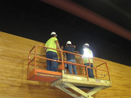 Eric Erdman Participates in Topping Out Ceremony