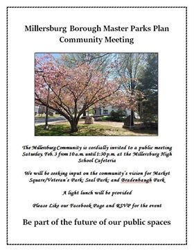Master Parks Planning Committee Seeking Student And Parent Input On Saturday, February 3, 2018