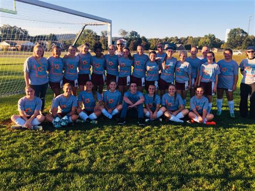 Millersburg Girls Soccer Plays For Cancer Awareness