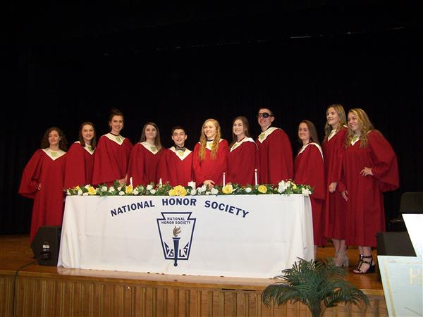 On March 29, 11 new members were inducted into the Millersburg Chapter of the National Honor Society.