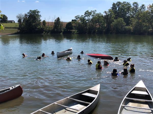 CONSERVATION CLUB - On 9/19, members of Conservation Club enjoyed the yearly trip to Lake Tobias for Boater Safety Training