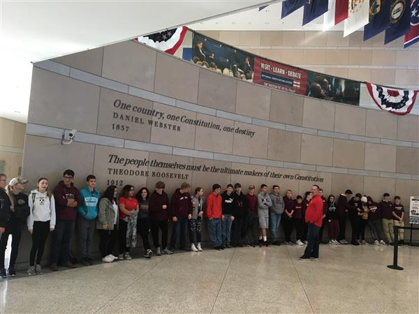 CIVICS TRIP: 9TH GRADE CIVICS STUDENTS TRAVELED TO PHILADELPHIA ON 12-3-18.