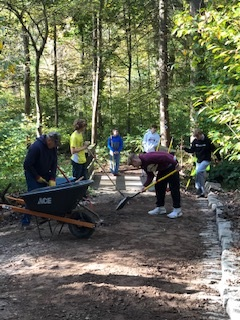 CONSERVATION CLUB - Members of the Conservation Club participated in Fall Clean Up Day at the Ned Smith Center on 10/10/19.