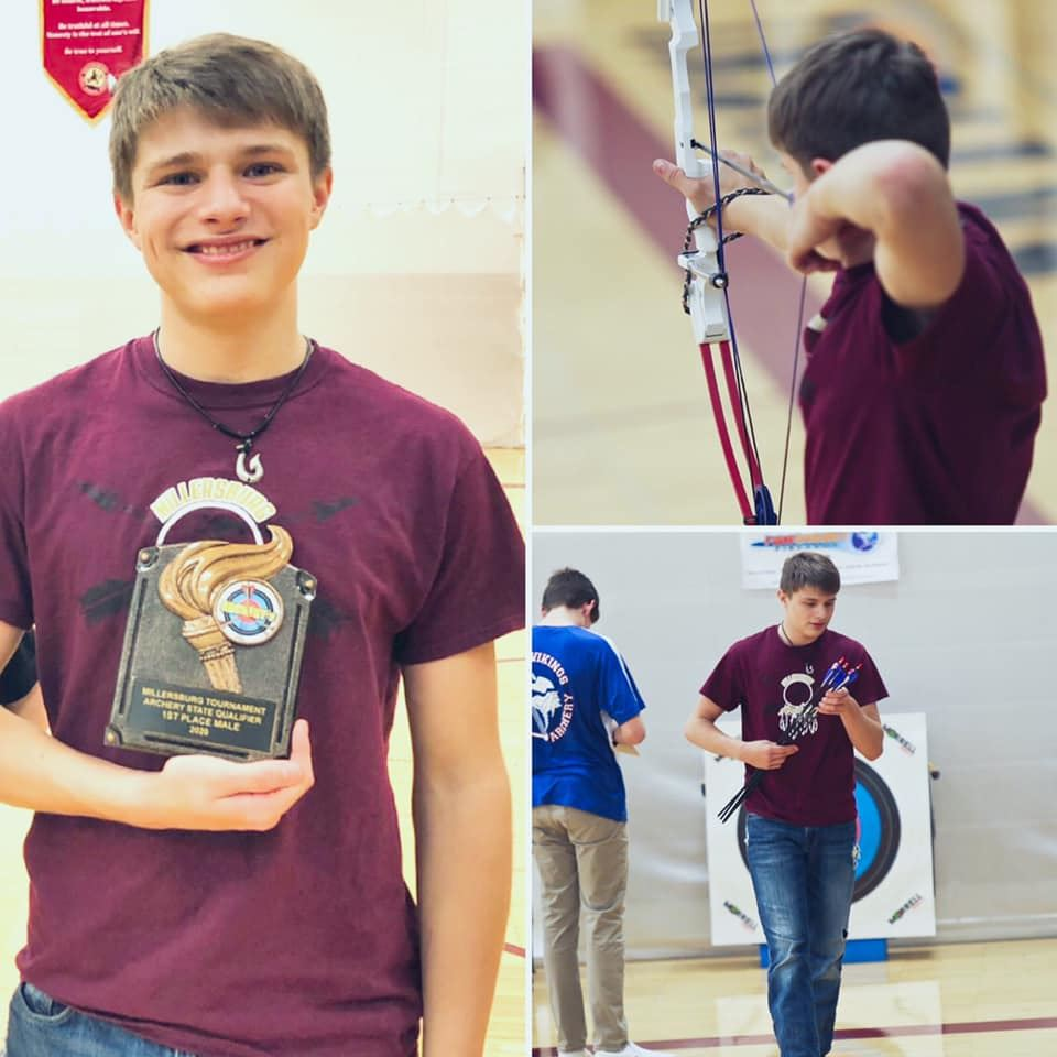 Congratulations to Grant S. for winning top archer with a score of 294 at the Millersburg Invitational Archery Tournament!