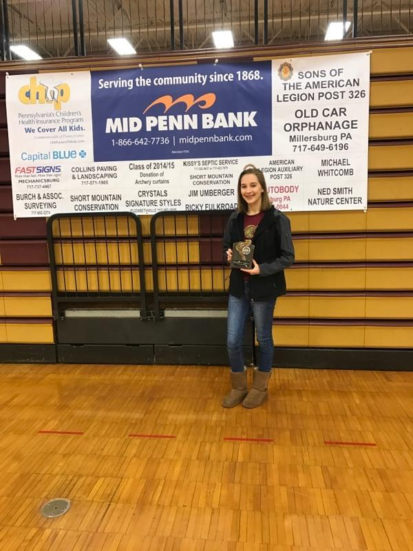 CONGRATULATIONS HANNAH C. - Hannah was the highest scoring female student at the Archery Tournament on Dec. 16 with a score of 278