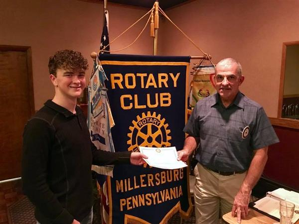STUDENT OF THE MONTH - Logan R. attends dinner with the Rotary Club