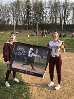100 HITS! - Congratulations to senior Lacey S. for achieving 100 hits during her softball career!