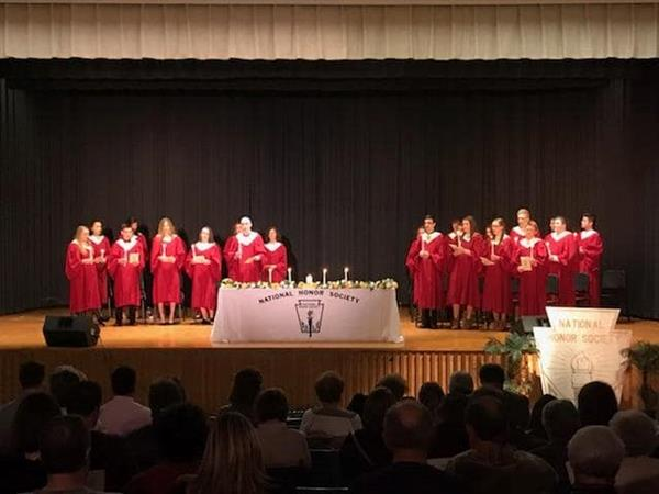 We welcomed 15 new Inductees into the Millersburg Chapter of National Honor Society at the Induction Ceremony on March 13.