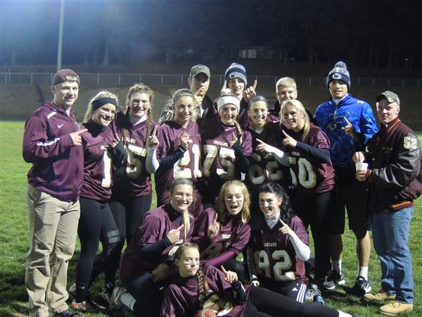POWDER PUFF GAME - The HS Student Council sponsored a Powder Puff Football Game on Nov. 17, 2016