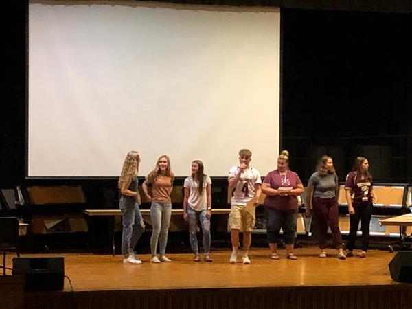 SPIRIT WEEK - Spirit Week kicked off with an assembly on 9/27/19 announcing the Homecoming Court and Mr. Millersburg Candidates