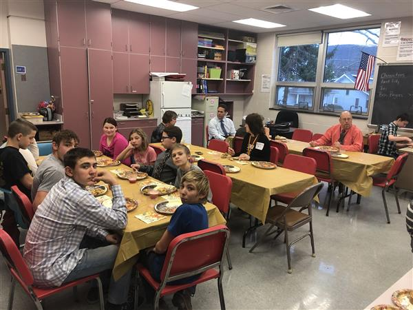 THANKSGIVING FEAST: The students in Mrs. Riland's class prepared a Thanksgiving meal from scratch.  It was delicious!!