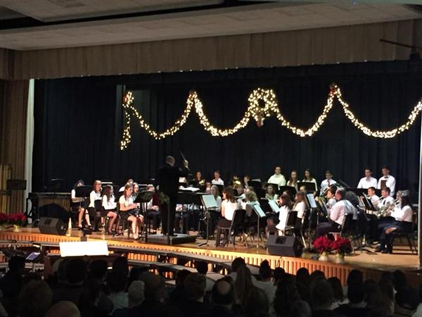 BAND/CHOIR CONCERT - Our High School Band and Choir performed for the annual Holiday Concert on Dec. 10
