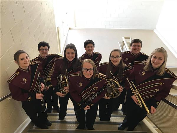 DAUPHIN COUNTY BAND - Several of our High School students participated in the Dauphin County Band Festival on 2/3/18.