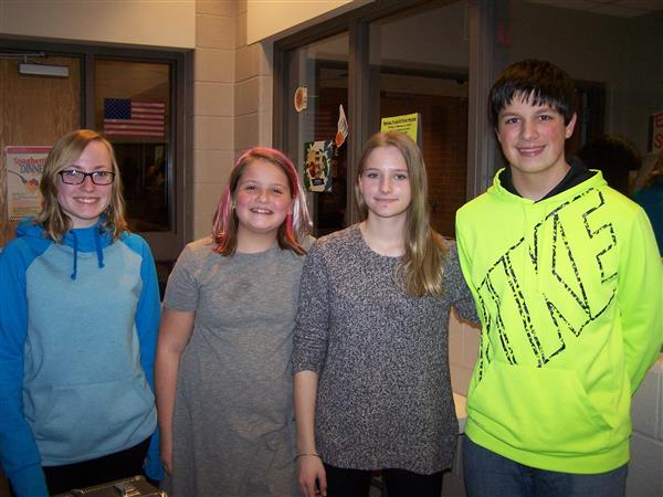 CONGRATULATIONS TO OUR MS DAUPHIN COUNTY BAND MEMBERS: Mykeala H, Claire R, Kendal P, and Jordan S.