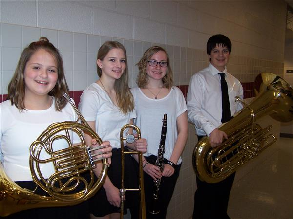 Congratulations to Mykeala H, Jordan S., Kendal P. & Claire R. - Dauphin County Band