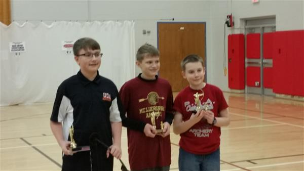 CONGRATULATIONS TO GRANT S. - This past Saturday, at the Pine Grove Archery Tournament, Grant placed second in the boys division by shooting a 272.