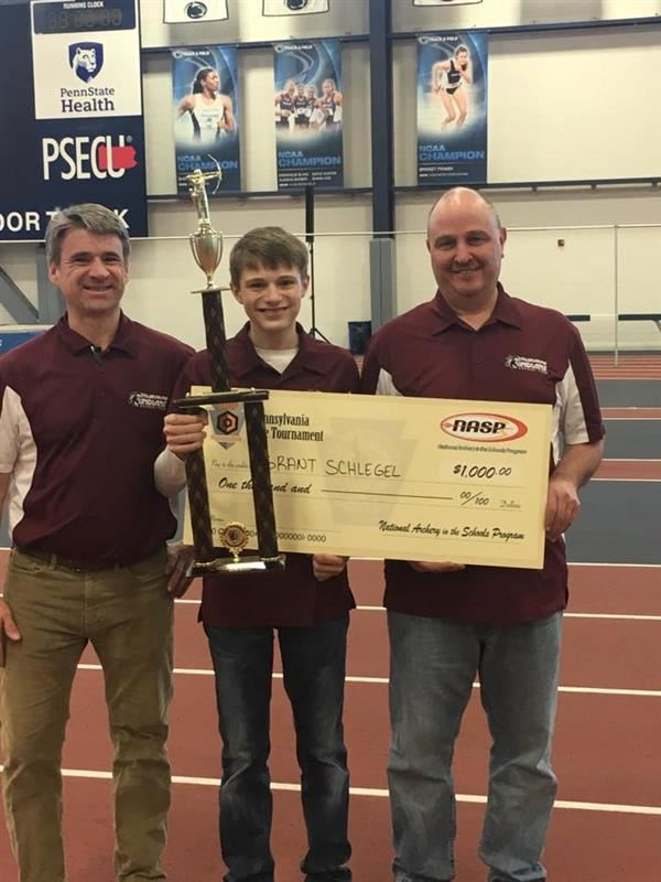 Congratulations to Grant S. for placing 1st at the Pennsylvania NASP Archery Tournament in State College on March 9!