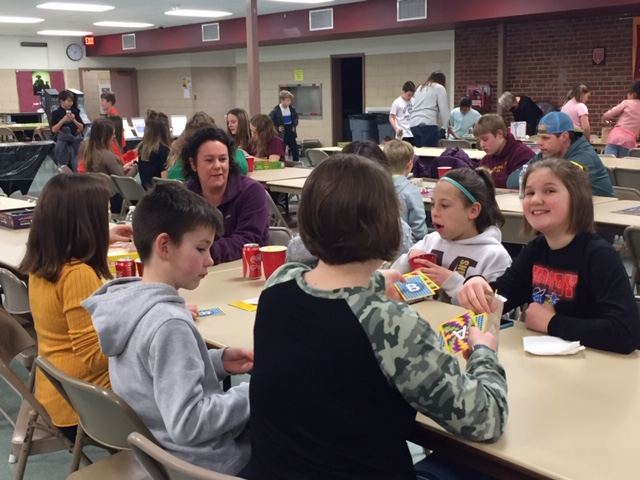 GAME NIGHT - MS Student Council held the first-ever Family Game Night on Feb. 21, 2020.