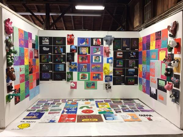 MIDDLE SCHOOL STUDENTS DISPLAY THEIR ARTWORK AT THE GRATZ FAIR!
