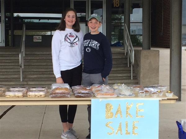 Middle School Student Council Holds Bake Sale and Car Wash to Benefit Local Charities