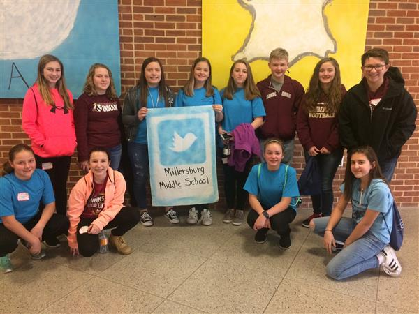 Members of MS Student Council traveld to New Oxford on Friday, March 2 to participate in the District 8 Conference