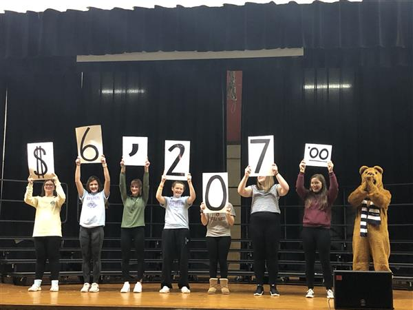 Mini-THON: Our students raised $6,207.00 for the Four Diamonds Fund. 3 times the goal! Congratulations!!