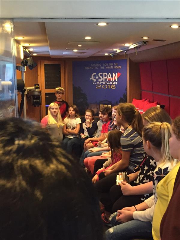C-SPAN BUS - The C-SPAN Bus visited Millersburg Area Middle School on 12/7/16