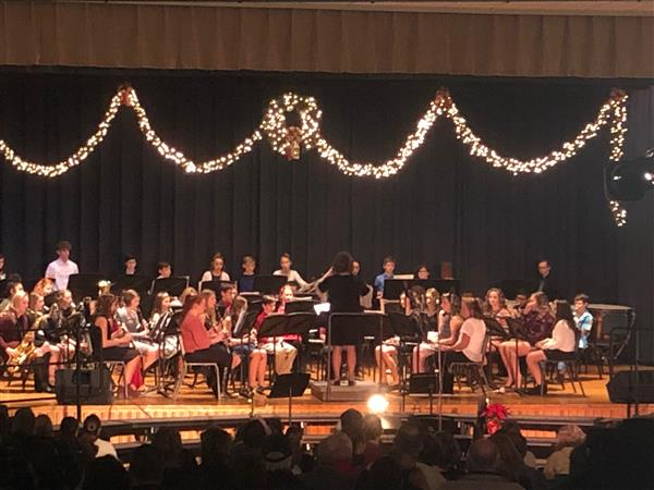 MS Band and Chorus performed beautifully on this year's Holiday Concert - 12-11-18