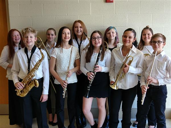 MIDDLE SCHOOL COUNTY BAND - Several of our Middle School students participated in Dauphin County Band on 2/3/2018.