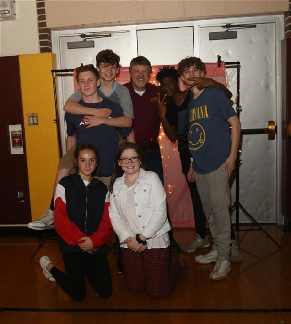 MS DANCE: The Middle School STUCO sponsored a dance in the Johnson Gym on May 3, 2019