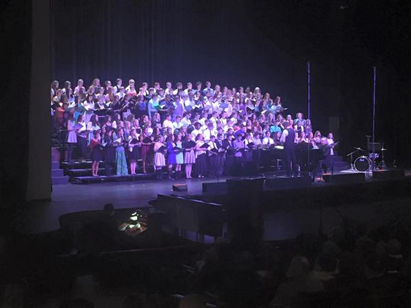 Millersburg Middle School Students participate in the Dauphin Choral Festival - April 9, 2016 with Mr. Shover conducting