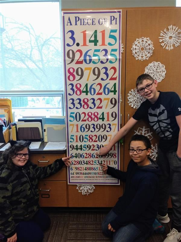 PI DAY! Middle School students participated in a Pi Day Contest on 3/14/19