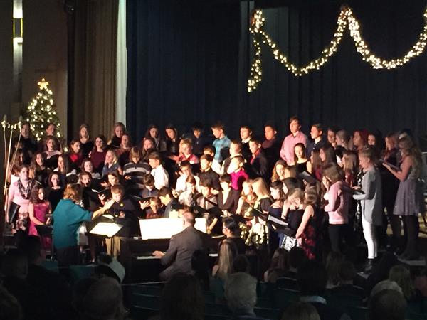 BAND/CHOIR CONCERT - Our Middle School Band and Choir performed for the annual Holiday Concert on Dec. 12